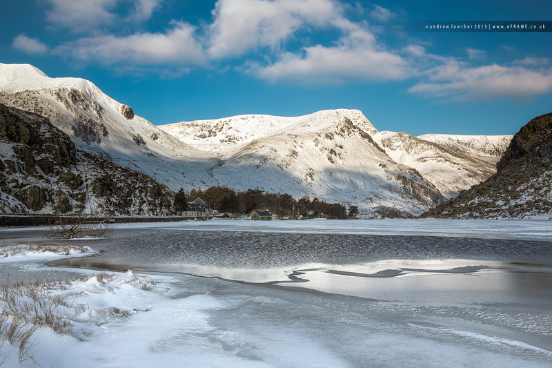 Lake Ogwen in Snowdonia - Frozen Over
